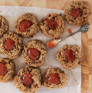 pindakaas confituur koekjes